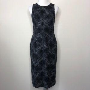 Banana Republic plaid exposed zipper sheath Dress